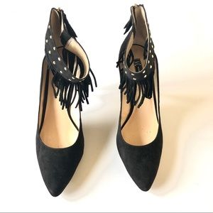 Cute INC pumps black suede with ankle detailing